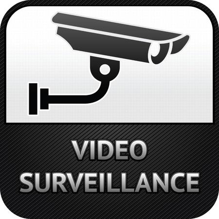Symbole CCTV, surveillance vidéo, caméra de sécurité signe