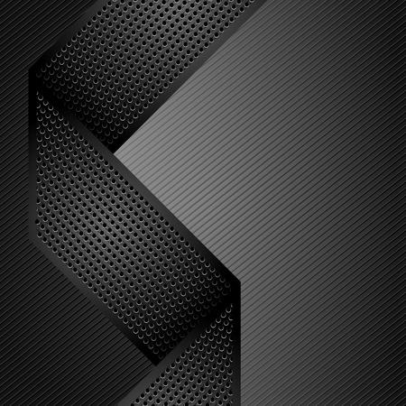 dark fiber: Metallic linten op een grijze corduroy achtergrond