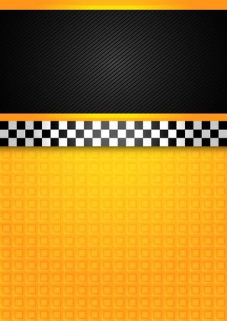 Taxi cab - blank template Vector