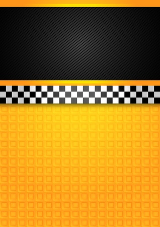 checkerboard backdrop: Taxi cab - blank template Illustration
