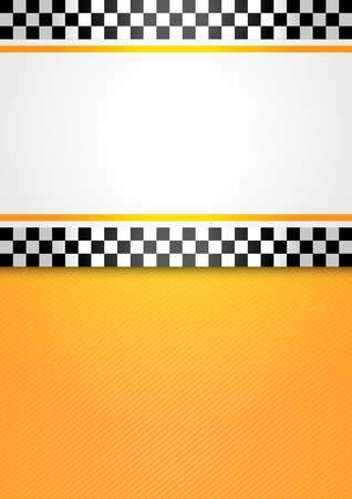 chequered ribbon: Taxi cab blank background