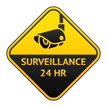 surveillance symbol: CCTV pictogram, video surveillance sticker