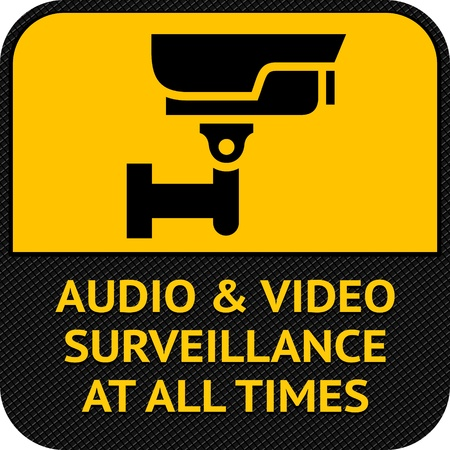 monitored area: CCTV symbol, pictogram security camera Illustration