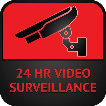 CCTV symbol, surveillance pictogram Vector