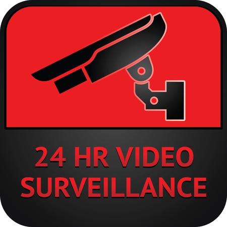 Symbole CCTV, pictogramme de surveillance