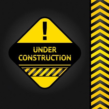 Corduroy black background, under construction Illustration