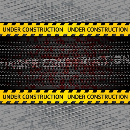 carbon fibre: Under construction background template  Vector 10eps Illustration
