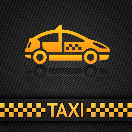 Racing background template, taxi cab backdrop Vector