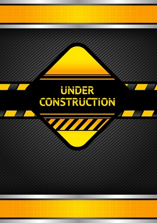 Under construction, black corduroy background Vector
