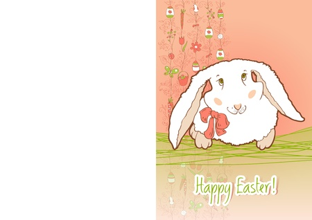 Easter Bunny for card Stock Vector - 12802661