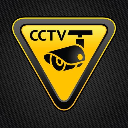 alerta: CCTV se�al triangular Vectores