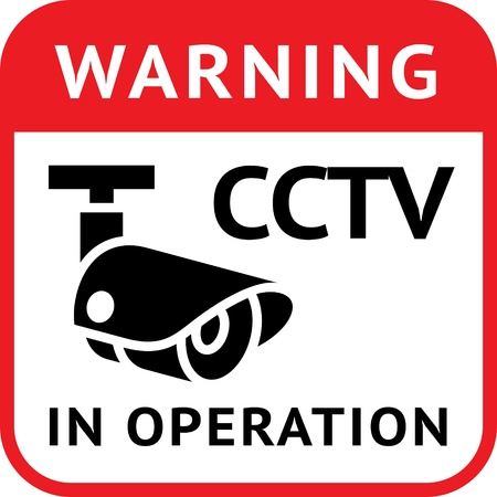 video surveillance: Warning Sticker for Security Alarm CCTV Camera Surveillance