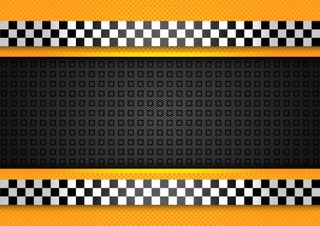 checkerboard backdrop: Taxi cab background, racing blank template Illustration