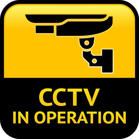 surveillance symbol: CCTV warning pictogram