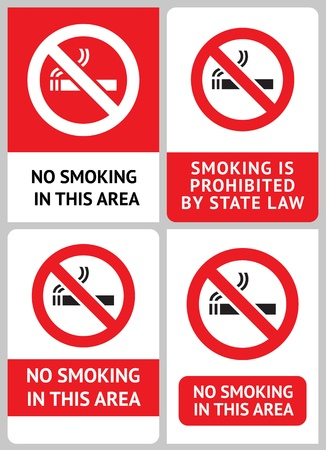Label set No smoking Stock Vector - 12948957