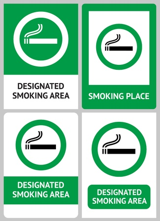 Label set Smoking place Stock Vector - 12948954