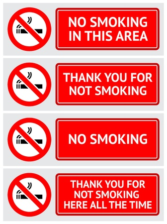 Labels set No smoking stickers Stock Vector - 12948956