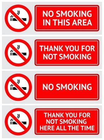 prohibido fumar: Las etiquetas no se establece ningún pegatinas fumadores