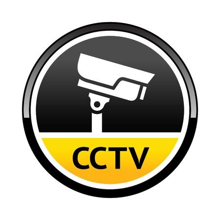 cctv: C�mara de vigilancia, s�mbolo de advertencia redonda