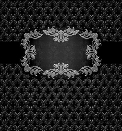Abstract metal dark frame background Vector