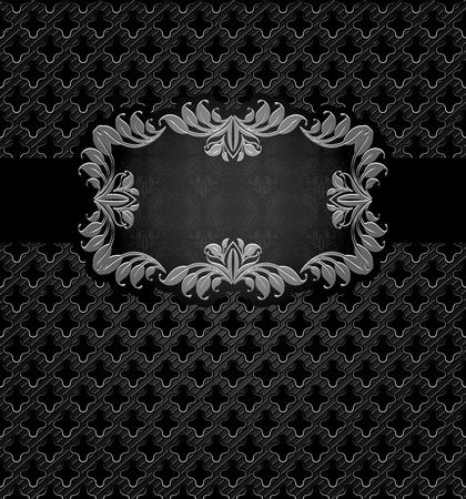 orifice pattern: Abstract metal dark frame background