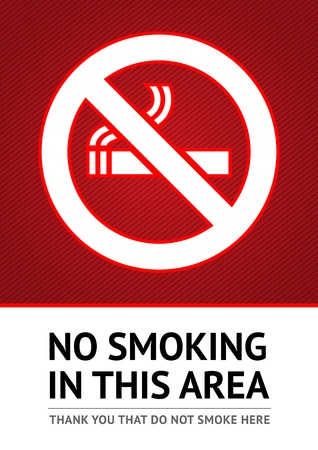 no smoking: Label No smoking sticker Illustration