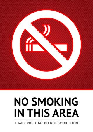 prohibido fumar: Marque No fumar etiqueta Vectores