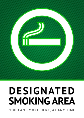 Label smoking place sticker Иллюстрация