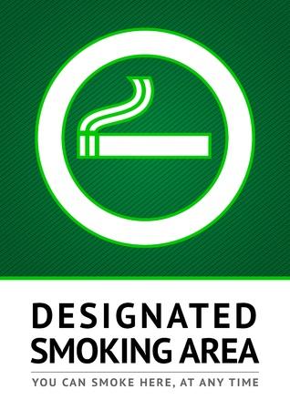 area restringida: Ponga la pegatina de fumar Label Vectores