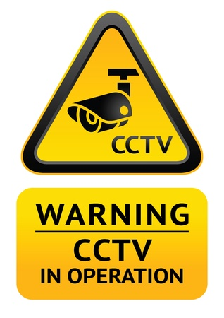 Notice Video Surveillance symbol Vector