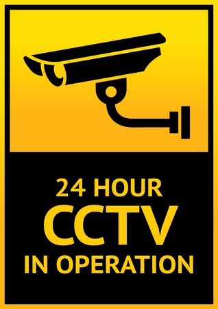 Sign security camera Stock Vector - 13091187
