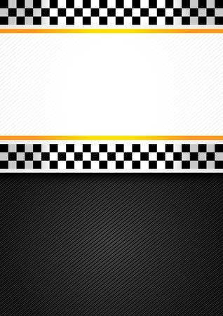 Taxi blank racing background Stock Vector - 13091194