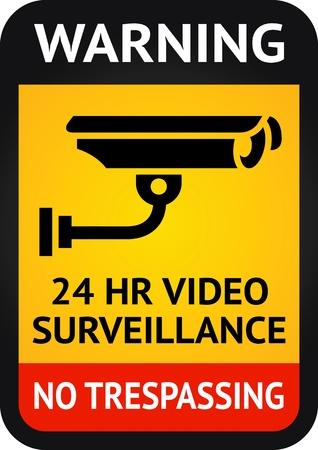 Symbole surveillance vidéo