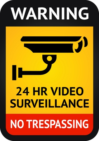 video surveillance: Video surveillance symbol