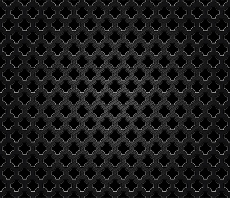 Abstract perforated metal dark background Vector