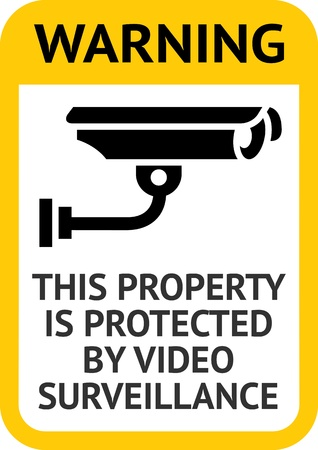 cctv security: Notice Video Surveillance