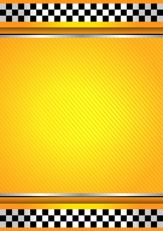 Racing background, taxi cab template Vector