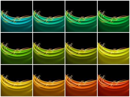 Set color curtain, silk tissue Stock Vector - 13177702
