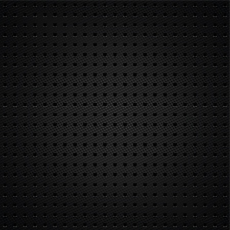 Structured metallic dark perforated sheet Vector