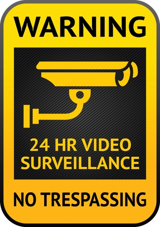 Video surveillance label Stock Vector - 13177697