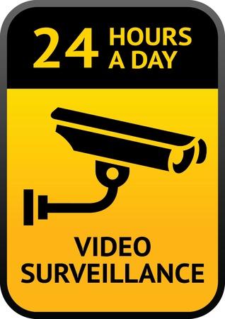 Signe surveillance vidéo