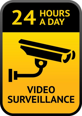 camera surveillance: Video surveillance sign