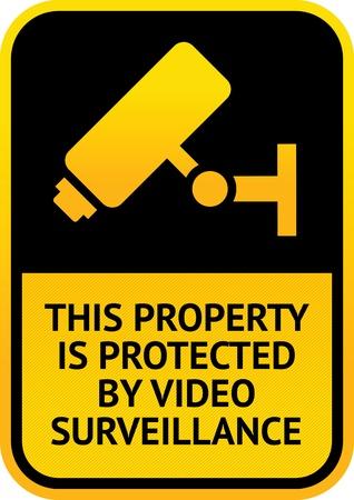 Videobewaking sticker Vector Illustratie