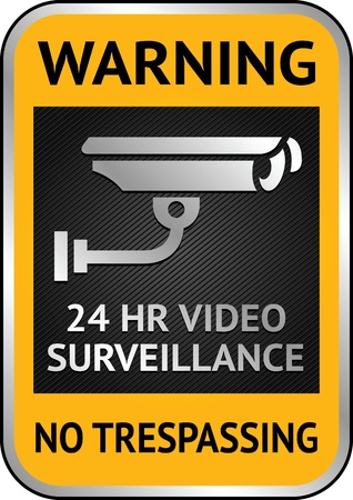 camera surveillance: Warning Sticker for Security Alarm CCTV Camera Surveillance