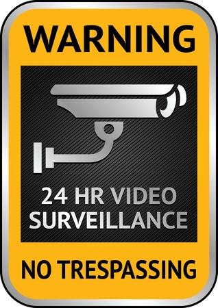 Warning Sticker for Security Alarm CCTV Camera Surveillance Stock Vector - 13290879