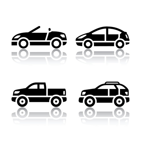 off road vehicle: Set of transport icons - cars