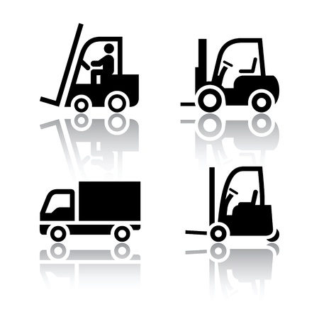 Set of transport icons - loader Vector