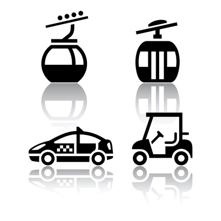 Set of transport icons - sport Vector
