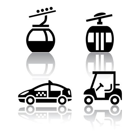 black cab: Set of transport icons - sport