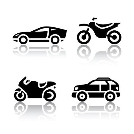 off road vehicle: Set of transport icons - sports transportation Illustration